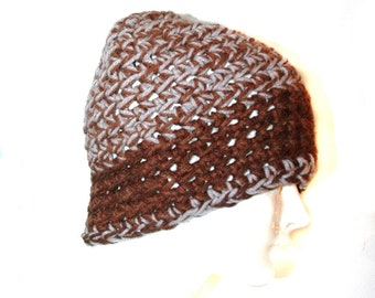 Tan and Brown  Beanie Hat