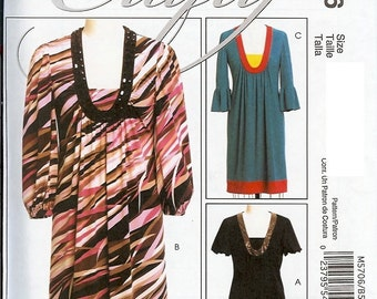 McCall's UNCUT Crafty Pattern 5706 - Misses Dresses - 8-16