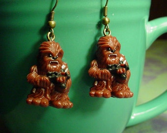 Short Time SALE Chewbacca Wookie Earrings