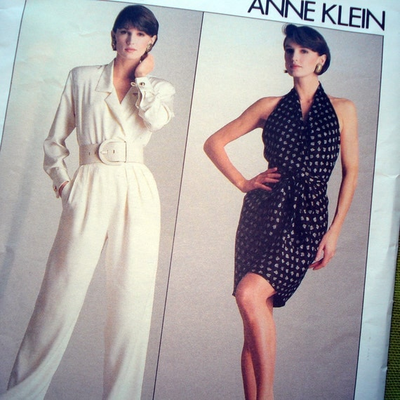 1980s Vintage Vogue 2052- Anne Klein - Blouse Halter, Pants and Skirt - Uncut FF
