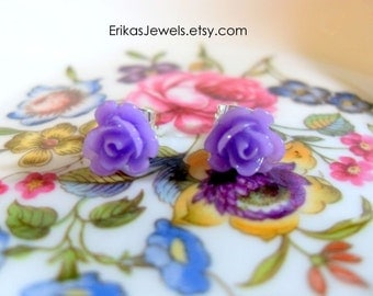 Rose Stud Earrings - Extra Small - 8 x 8 x 6 mm