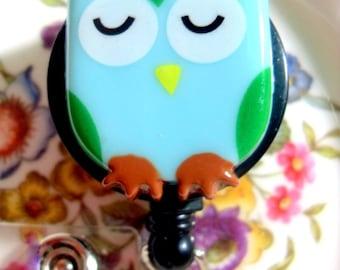 Owl ID Badge Holder