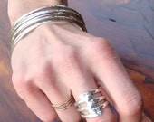 Triple enlaced silver ring