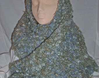 KNITTING-Scrarf in Grey Boucle