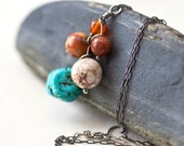 Cascade - Natural Stones Sterling Silver Pendant