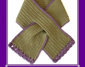 TODDLER Keyhole Scarf Crochet PATTERN  Instant pdf download