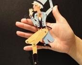 Circus Folk Assembled Paper Doll, Arthur