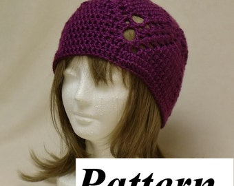 Crochet Pattern - Hat - Chunky Beanie - Easy Crochet Pineapple Lace Pattern - pdf Download - ok to sell