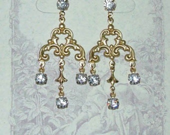 Somewhere In Time Elise's Crystal Portrait Earrings