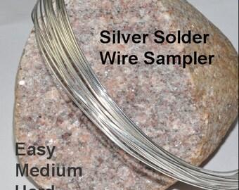 Silver Solder Wire Sampler - Easy, Medium, Hard - 12 inches each