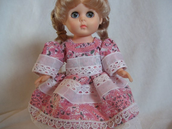 Ginny Doll Little Miss Paisley Dress for 7inch 8inch Dolls fits Riley Kish