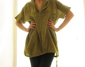 Casual Blouse 1422 in Lime Green available in 3 sizes