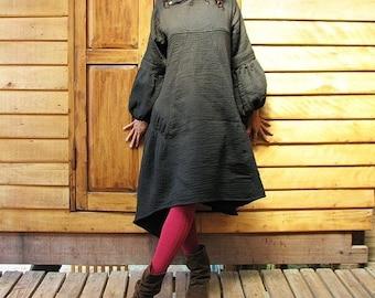 Blown away thick winter dress ...(M-XL)