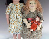 Amity cloth doll traditional PAPER pattern - ON SALE