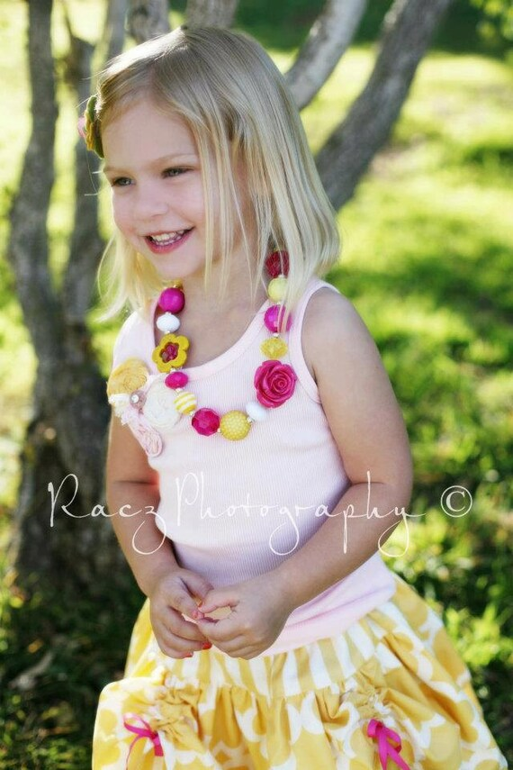 LIMITED Made to match Belle by Little Wellies Chunky Necklace