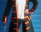 MADE TO ORDER Mens or Womens Renaissance Pirate Frock Coat Costume, Choice of Colors and Fabrics