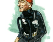 Jacques Cousteau - 11 x 14 Color Print SIGNED EDITION