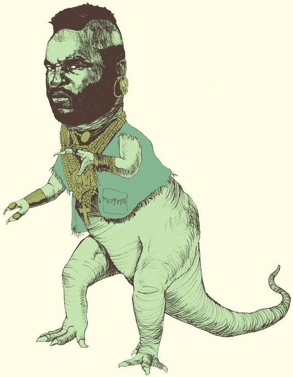Mr. T-Rex - 8.5 x 11 Color Print SIGNED EDITION