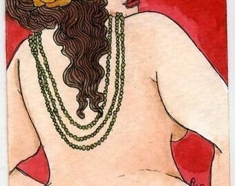 Sylvia nude fat lady (5x7 or 8x10 print)