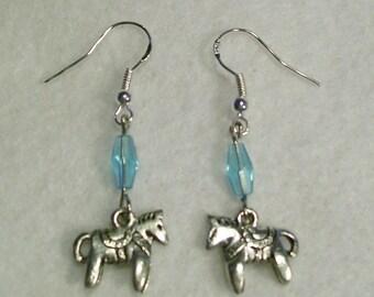 Horses Horses Horses Horse Charmed Earrings