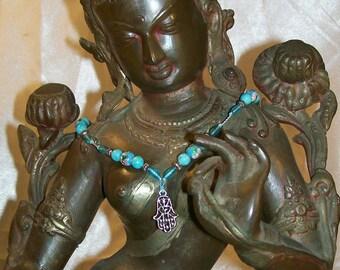 Hamsa Hand Of Fatima Spiritual Fashion Statement YAD HA'CHAMESH The hand of five