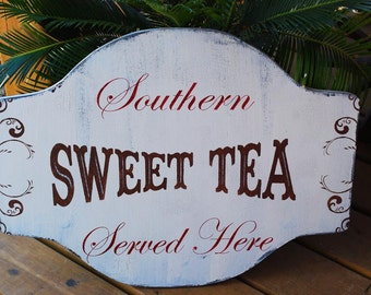 SWEET TEA sign- Wedding signs - Wedding Decorations - Featured in Southern Weddings Magazine 24X18