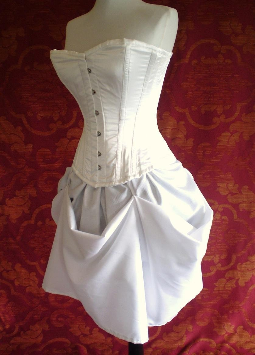 White queen steel boned halloween corset outfit-whole corset
