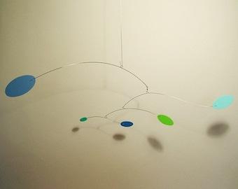 Modern Art Calder Style Baby Nursery Hanging Mobile Wind Decor Calder style Kinetic Home Decor