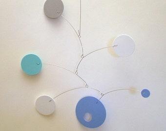 Retro Abstract Hanging Decor Blueboy Art Mobile Nursery Baby Mobile Calder style Kinetic Home Decor