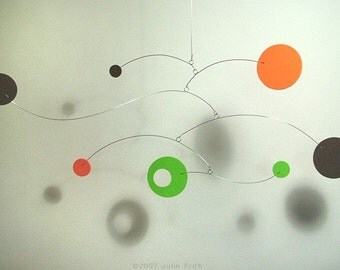 Modern Art Design Hanging Decor Neptune Mobile for Nursery or Baby Calder style Kinetic Home Decor