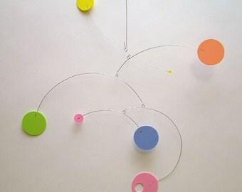 Hanging Art Mobile RD-1 Arty One Baby Decor Mobile for Modern Nursery Calder style Kinetic Home Decor