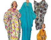 Simplicity 5680 1970s Misses Easy CAFTAN  Pattern Proportioned in Height One Size  Womens Vintage Sewing Pattern