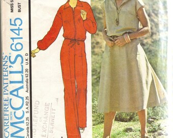 McCalls 6145 1970s Misses Hooded Zip Front JACKET PANTS and SKIRT Pattern Womens Vintage Sewing Pattern Size 10 Bust 32 1/2