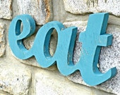 Kitchen Art Decor Recycled Shabby Eat Sign
