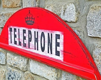 London Telephone Booth British Phone Booth Wall Sign
