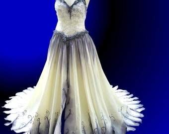 Popular items for the corpse bride on etsy for Corpse bride wedding dress for sale