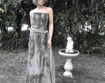 Gothic Hand Painted Gown 'Midnight in the Garden of Good and Evil'