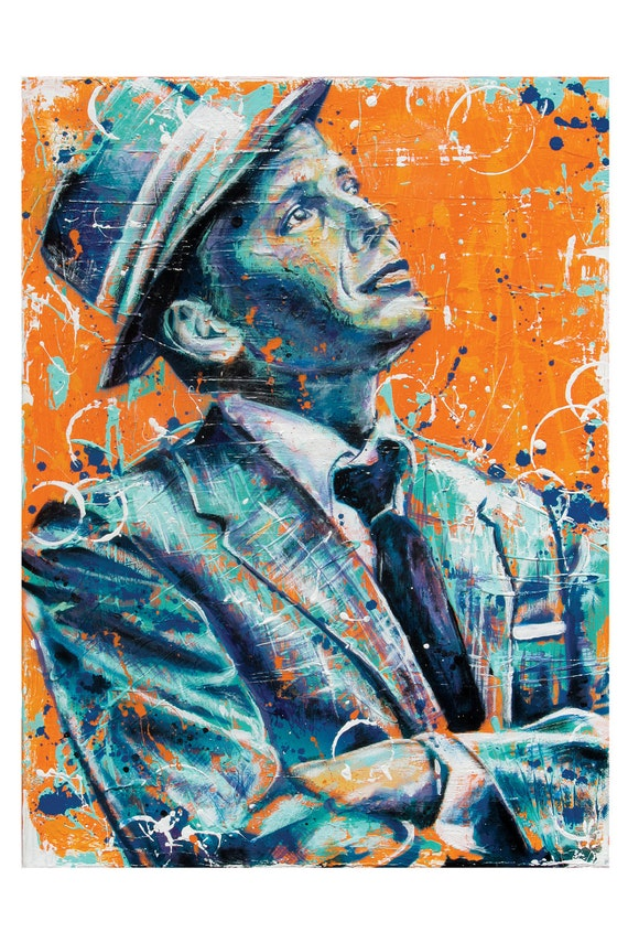 Frank Sinatra - Ol' Blue Eyes - 12 x 18 High Quality Art Print - PointBlankDesign