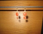 Red Jasper Leverback Earrings