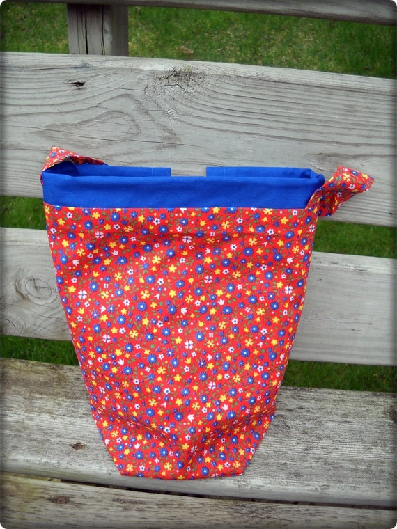 Zippered Knitting Bag : Crochet bag or knitting zipper compartment hook by