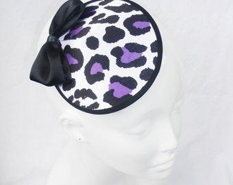 SALE - Snow Leopard with Purple Hat