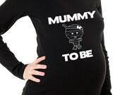 halloween maternity shirt-mummy to be short or long sleeve maternity t shirt