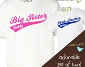 matching sibling shirts - big brother, little brother, big sister, little sister - any combination sporty swoosh