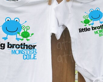 big brother little brother shirt matching sibling shirts- great for big and little sisters, too