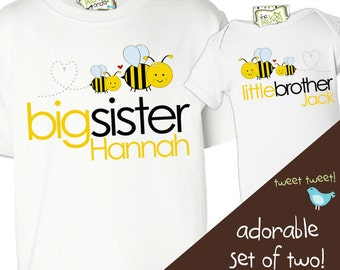 matching sibling t-shirts for any combination adorable bees