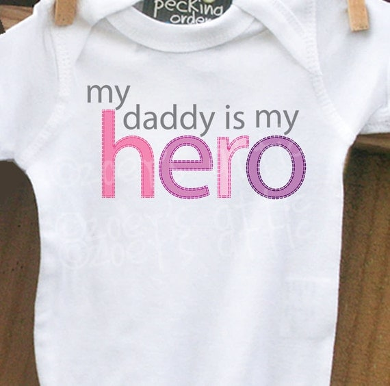 personalized bodysuit-My Daddy is My Hero bodysuit what a great way to show dad what he means to you