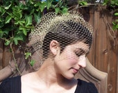 Gold Glitter Birdcage veil - Bridal/Pinup/Retro/Boudoir- So many beautiful looks in ONE veil - Also available in silver