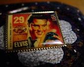 Elvis Pin Vintage Stamp