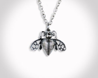 Bee Charm Pendant Sterling Silver