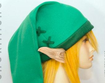 Legend of Zelda - Link cosplay cap in Kokiri green ( jade/emerald ) - hats by orgXIIIorg